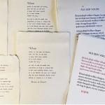 Gedichten op handgeschept papier